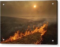 Carefully Managed Fires Sweep Acrylic Print by Jim Richardson