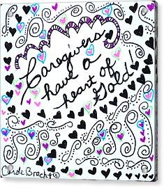 Caregiver Hearts Acrylic Print