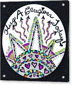 Caregiver Hugs Acrylic Print by Carole Brecht