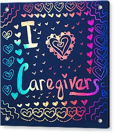 Caregiver Rainbow Acrylic Print