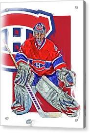 Carey Price Montreal Canadiens Oil Art Acrylic Print by Joe Hamilton