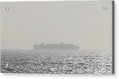 Acrylic Print featuring the photograph Cargo Au Large by Marc Philippe Joly