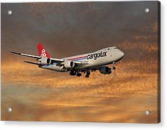 Cargolux Boeing 747-8r7 3 Acrylic Print