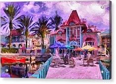 Caribbean Beach Resort Acrylic Print