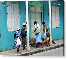 Acrylic Print featuring the photograph Caribbean Blue, Speightstown, Barbados by Kurt Van Wagner