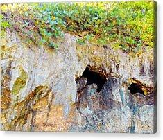 Caribbean Caves Acrylic Print by Eloise Schneider
