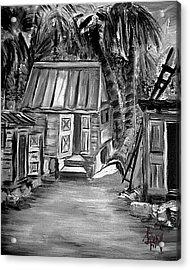 Caribbean Country House Acrylic Print by Laura Fatta