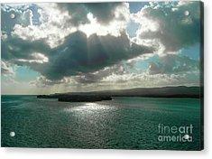 Caribbean Dawn Acrylic Print by Judy Hall-Folde