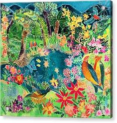Caribbean Jungle Acrylic Print by Hilary Simon