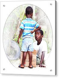 Caribbean Kids Illustration Acrylic Print