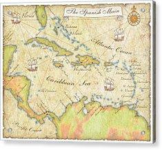 Caribbean Map - Good Acrylic Print
