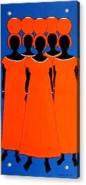 Caribbean Orange Acrylic Print