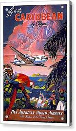 Caribbean Pan American Airways Acrylic Print by David Wagner