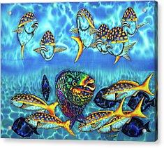 Caribbean Reef Fish - Parrotfish - Blue Tang - Yellowtail Snapper Acrylic Print