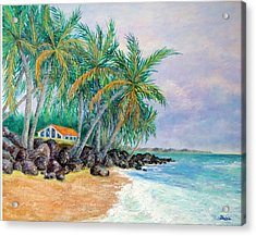 Acrylic Print featuring the painting Caribbean Retreat by Susan DeLain