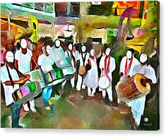 Caribbean Scenes - Pan And Tassa Acrylic Print