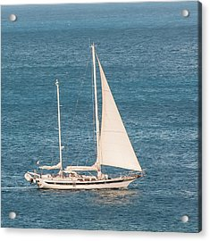 Acrylic Print featuring the photograph Caribbean Scooner by Gary Slawsky