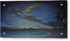 Caribbean Sunset By Alan Zawacki Acrylic Print