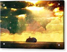 Caribbean Sunset Cloud Art Acrylic Print