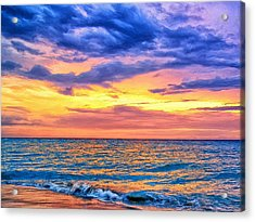 Caribbean Sunset Acrylic Print by Dominic Piperata