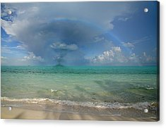 Caribbean Waterspout  Acrylic Print by Betsy Knapp