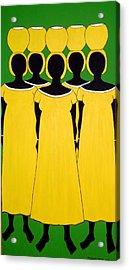Caribbean Yellow Acrylic Print