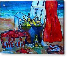 Caribe And Crab Acrylic Print by Patti Schermerhorn