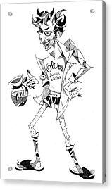 Caricatura Papiro Di Laurea - Funny Portrait Acrylic Print by Arte Venezia