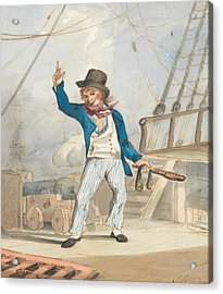 Caricature Of A Sailor Acrylic Print by John Sell Cotman