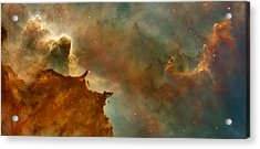 Carina Nebula Details -  Great Clouds Acrylic Print by Mark Kiver