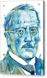 Carl Jung - Watercolor Portrait.6 Acrylic Print