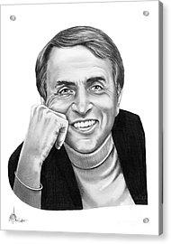 Carl Sagan Acrylic Print by Murphy Elliott