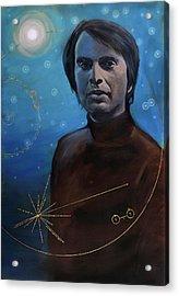 Carl Sagan- Voyager Acrylic Print by Simon Kregar