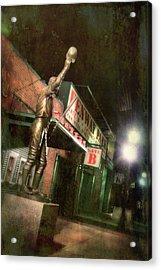Carl Yastrzemski Statue - Fenway Park Boston Acrylic Print by Joann Vitali