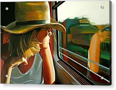 Carla Traveling Acrylic Print by Jose Roldan Rendon
