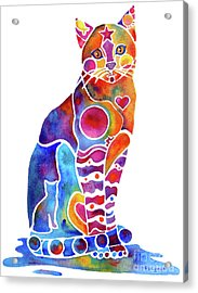 Acrylic Print featuring the painting Carley Cat by Jo Lynch