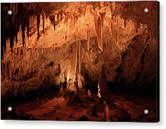 Acrylic Print featuring the photograph Carlsbad Caverns 2 by Marie Leslie