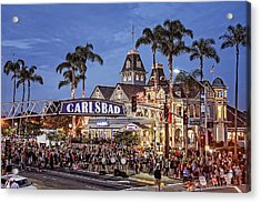 Carlsbad Village Sign Lighting Acrylic Print