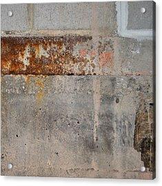 Carlton 16 Concrete Mortar And Rust Acrylic Print