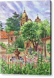 Carmel By The Sea Mission Acrylic Print