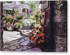 Carmel Garden Gate Acrylic Print by David Lloyd Glover