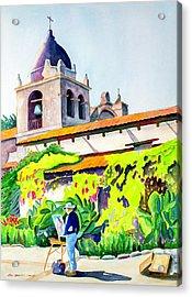 Carmel Mission Acrylic Print by Don Harvie