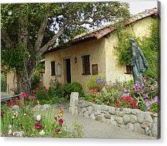 Carmel Mission Grounds Acrylic Print by Gordon Beck