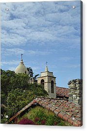 Carmel Mission Rooftops Acrylic Print by Gordon Beck