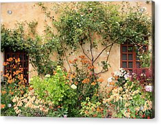 Carmel Mission Windows Acrylic Print by Carol Groenen