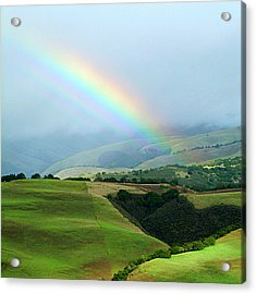 Carmel Valley Rainbow Acrylic Print