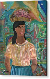 Acrylic Print featuring the painting Carmelita by John Keaton