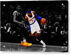 Carmelo Anthony Acrylic Print by Brian Reaves