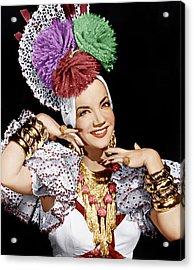 Carmen Miranda, Ca. 1940s Acrylic Print by Everett