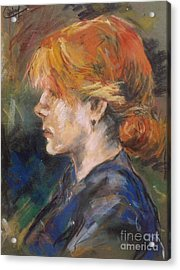Acrylic Print featuring the painting Carmen Of Lautrec by Debora Cardaci